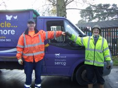 Serco leaf collection with Harry Cook