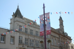 34. Town centre hanging baskets and bunting