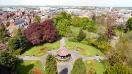 Loughborough from the Carillon - photographed by Peter Minshall