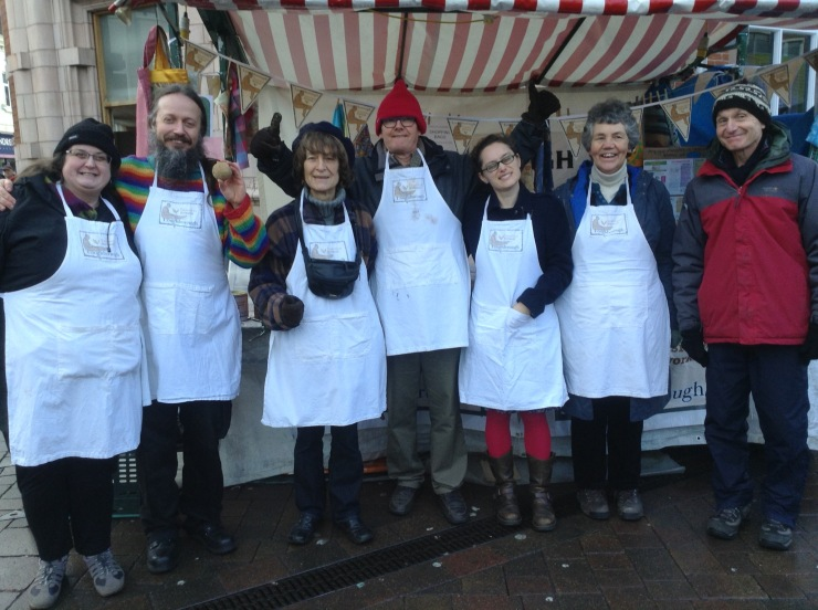 JANUARY 2017 - Transition Loughborough Potato Day in the Market